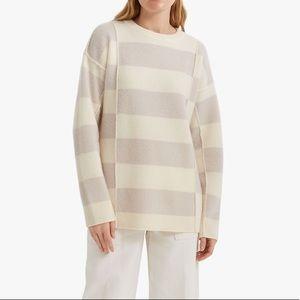 Club Monaco 100% Cashmere Wide Stripe Sweater